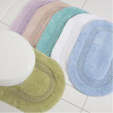oval shape bath mat