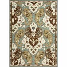 indoor outdoor rugs 5x7 floor coverings abstract pattern decorating marvelous polypropylene blue ivory area rug