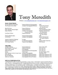 Resumes With Picture Tony Meredith Resume Resumes With Pictures Barraques Org