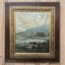 19th century framed oil painting on canvas