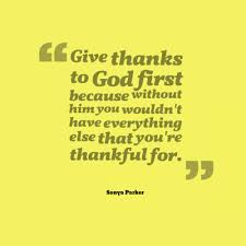 Christian Quotes On Giving Thanks To God