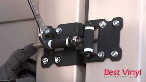 Vinyl fence gate latch Self Closing How To Adjust Gate Hinges Best Vinyl Youtube How To Adjust Gate Hinges Best Vinyl Youtube
