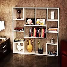wood white floating bookshelves