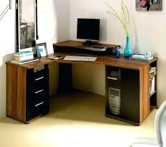 small corner desk office depot fancy medium size of modern computer glass