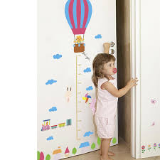 Hot Air Balloon Rabbit Train Height Measure Wall Stickers For Kids Rooms Children Growth Chart Wall Decals Poster Mural Wall Decals For Cheap Wall