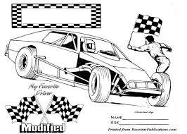 Have fun discovering pictures to print and drawings to color. Coloring Pages Race Car Sheet Nascar Modified Colouring Cars Dirt Miniacing Mod Vintage Modifieds Track Disney Princess Anime Cute Cat Fortnite Oguchionyewu