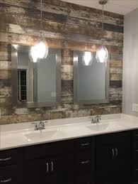 pendant lighting for bathroom. Barn Wood Accent Wall And Pendant Lights. Lighting For Bathroom