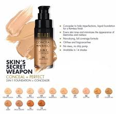 milani perfect 2 in 1 foundation concealer 30 ml 1 oz choose any from 16 colors