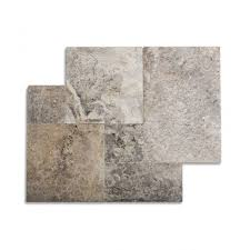 french pattern silver tumbled travertine tile jpg
