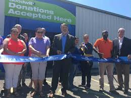 goodwill kingsport and chamber officials held a ribbon cutting ceremony for goodwill s newest donation center
