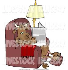 recliner chairs clip art.  Art Clip Art Of A Relaxed Cow Resting On Recliner Chair And Reading  Newspaper And Chairs