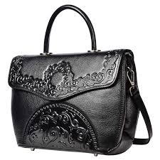 Designer Black Satchel Bags Pijushi Designer Handbags For Women Floral Purses Top Handle Satchel Bags