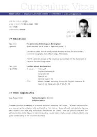 cv resume sample sample of the resume
