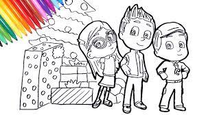 Beautiful pj masks coloring page to print and color. Pj Masks Amaya Conor Greg Christmas Coloring Pages How To Draw Pj Masks With Christmas Presents Youtube