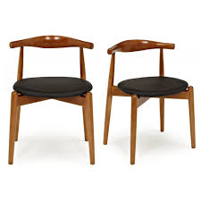hans j wegner x2 style brown elbow chair with round seat