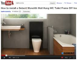 How to install a Geberit Monolith Wall Hung WC Toilet Frame DIY Installation  Video