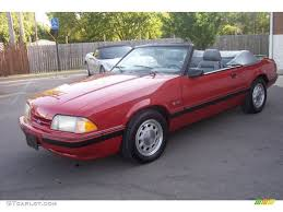 1987 Medium Cabernet Red Ford Mustang LX 5.0 Convertible #65774301 ...