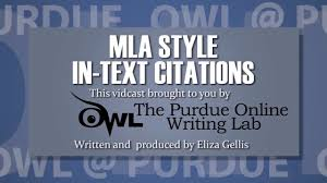 Mla Style In Text Citations 8th Ed 2016