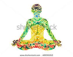 original yoga painting omwoman yoga meditate. 7 Chakra Color Lotus Pose Yoga, Flower Floral Pattern Watercolor Painting Hand Drawn Design Illustration Original Yoga Omwoman Meditate