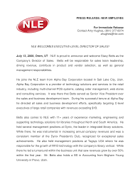 Templates For Press Releases Sample Press Release New Employee Templates At