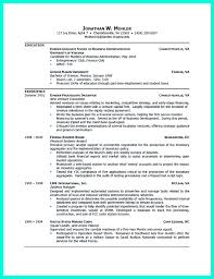 Resume With Undergraduate And Some Graduate Experience Profesional