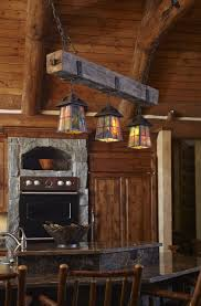Arts And Crafts Kitchen Lighting Rustic Beam Chandelier With Arts Crafts Style Lanterns And