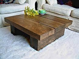 High Quality Coffee Table:Wood Coffee Tables Idea Table Chunky Living Room Chunky Rustic  Plank Family Room Idea