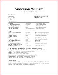 Fresh Acting Resume Example For Beginners Personal Leave