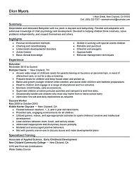 Babysitting Resume Template Interesting Resume Templates Babysitter Objectives For Babysitters Co Com Photo