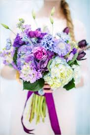 purple and icy blue romantic bouquet