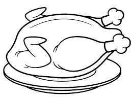Small Picture Fried Chicken Black And White Clipart