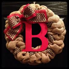 initial wreaths for front doorWreaths amazing monogrammed wreaths for front door Burlap