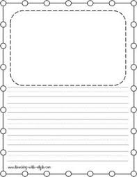 Kindergarten Lined Paper Template Free Kindergarten Writing Paper Template Show And Tell Classroom