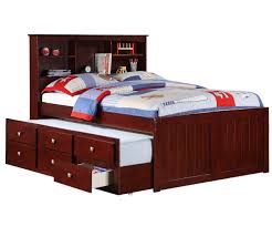 Bookcase Bedroom Furniture Manhattan Full Size Bookcase Captains Trundle Bed Cappuccino