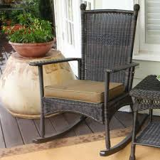 wicker black rocking chairs