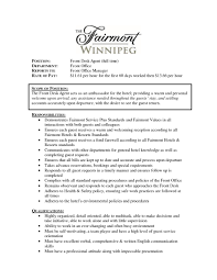 Resume Hotel Frontsk Examples Concierge Objective Sample Gorgeous