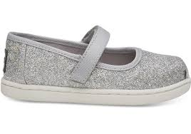 Toms Tiny Shoe Size Chart Silver Iridescent Glimmer Tiny Toms Mary Jane Flats