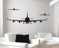 Rs Interhandel Wandtattoo Aufkleber Wandtatoo Flugzeug
