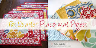 10 Free Fat Quarter Quilt Patterns & Projects & Fat Quarter Place-mat Project Adamdwight.com