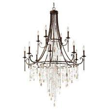 cascade 12 light heritage bronze multi tier chandelier