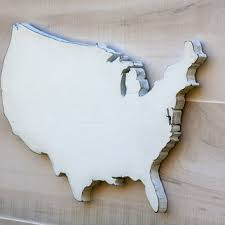 united states us state shape sign wood cutout wall art with hear