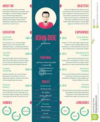 Modern Resume Cv Template For Employment Stock Vector
