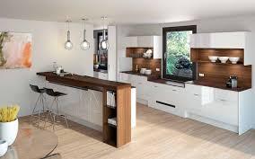 Weiße Küche Mit Holzplatte Weise Hochglanz Kuche Ikea Nobilia