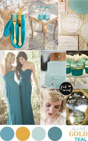Gold Mint and Teal Wedding Palette { Vintage hint }