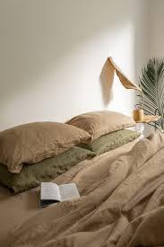 <b>Песочный комплект постельного белья</b> из умягченного льна