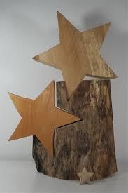 Weihnachtssterne Holzsterne Dekosterne Stern Großer Holzstern Sterne Holz Skulptur Holz