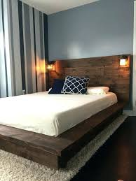 Modern Wood Bed Frame Modern Wood Headboard Floating Wood Platform