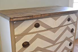 chevron kitchen buffet dresser with striped butcher block top chevron painted furniture