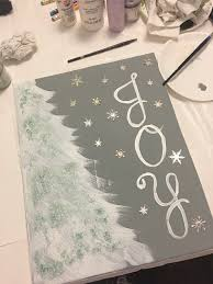 my kinda table scape diy host holiday paint and sip party easy tree painting