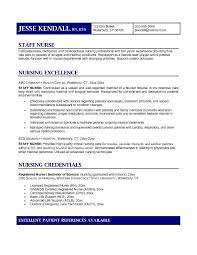 Example Staff Nurse Resume Free Sample